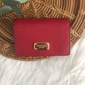 Michael Kors Red Pebble Leather wallet